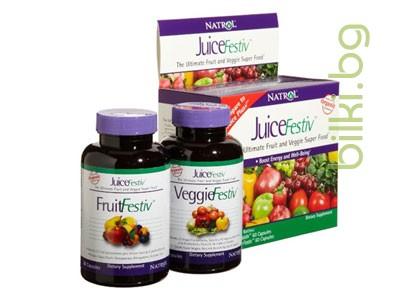 ДжусФестив,плодова и зеленчукова формула
