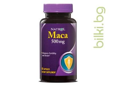 NATROL, МАКА, КАПСУЛИ Х 60, 500 мг