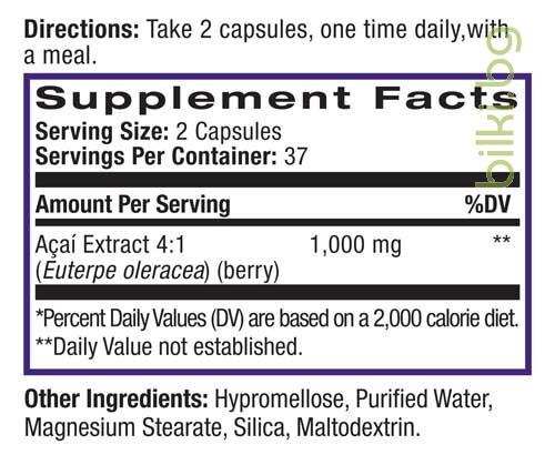 акай бери, 1000,мг,натрол,acaiberry, natrol,