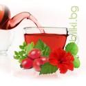 Освежаващ сутрешен чай с Каркаде и червени горски плодове, Трапезен чай за цялото семейство, Детски билков чай