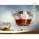 Луксозен сервиз за чай - кана с 4 чаши+Зелен чай