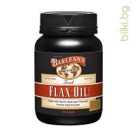 ленено масло, Барлийнс, Barlean's flax oil, softgel, капсули