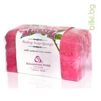 Rose пилинг сапун-гъба 70 гр