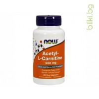 ацетил Л-Карнитин,аcetyl L-carnitine,now foods,л-карнитин цена,л-карнитин странични