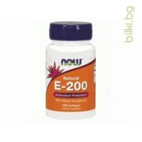 витамин E-200,Vitamin E,now foods,антиоксидант,имунна система
