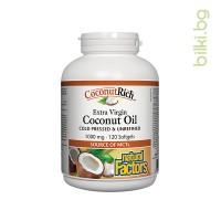 coconutrich,кокосово масло, extra virgin, коса, кожа