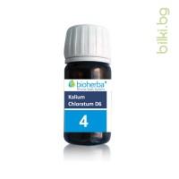 шуслерова сол, сол 4, kalium chloratum d6, калиум хлоратум