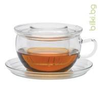 TEA TIME G чаша за запарка 0.3 l, стъклен филтър