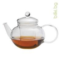 MIKO G чайник 0.6 l с капаче и филтър от стъкло