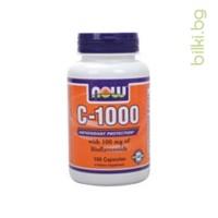 Витамин C-1000 SR, NOW Foods, ТАБЛЕТКИ Х 100