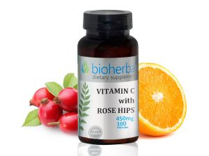 витамин ц с шипка, капсули, биохерба