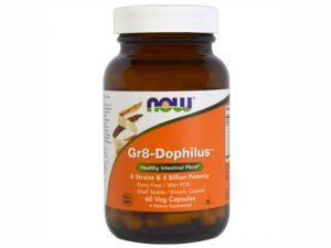 gr8-dophilus,стабилни пробиотици,now foods,чревна флора,8 клона