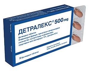 детралекс, таблетки,венозен тонус