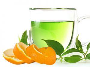 зелен чай с портокалови корички